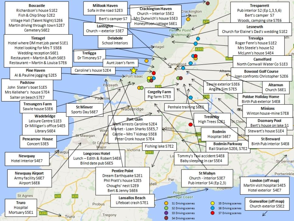 Maps Doc Martin Location Map on